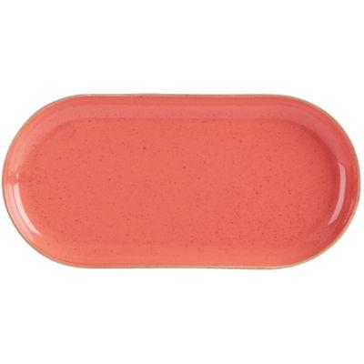 DPS Tableware Seasons Narrow Oval Plate 30cm Coral Orange