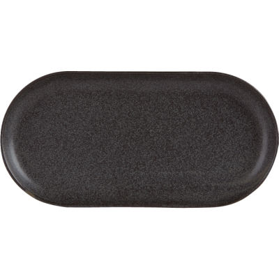 DPS Tableware Seasons Narrow Oval Plate 30cm Graphite Black