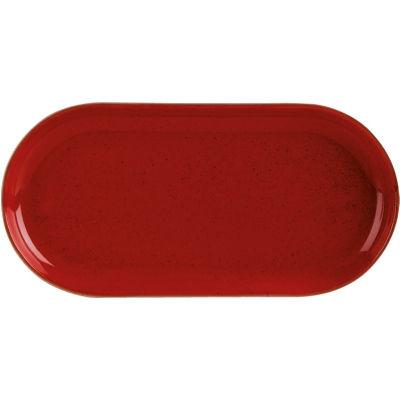 DPS Tableware Seasons Narrow Oval Plate 30cm Magma Red