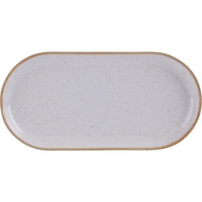 DPS Tableware Seasons Narrow Oval Plate 30cm Stone Grey