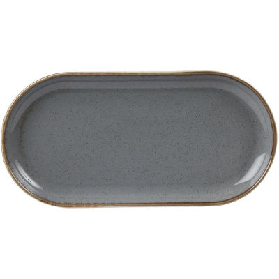 DPS Tableware Seasons Narrow Oval Plate 30cm Storm Grey