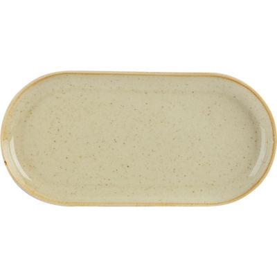 DPS Tableware Seasons Narrow Oval Plate 30cm Wheat Cream