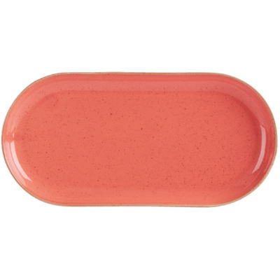 DPS Tableware Seasons Narrow Oval Plate 32cm Coral Orange