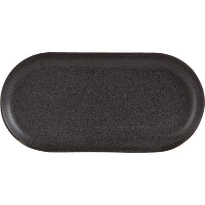 DPS Tableware Seasons Narrow Oval Plate 32cm Graphite Black