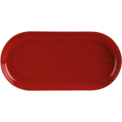 DPS Tableware Seasons Narrow Oval Plate 32cm Magma Red