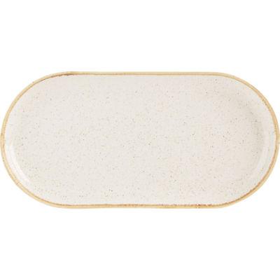 DPS Tableware Seasons Narrow Oval Plate 32cm Oatmeal Cream