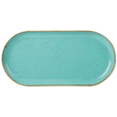 DPS Tableware Seasons Narrow Oval Plate 32cm Sea Spray Blue