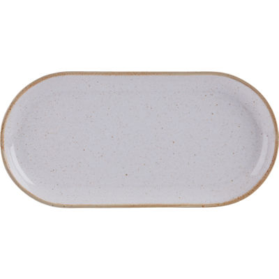 DPS Tableware Seasons Narrow Oval Plate 32cm Stone Grey