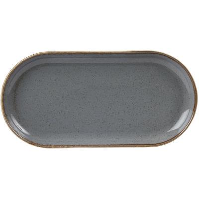 DPS Tableware Seasons Narrow Oval Plate 32cm Storm Grey