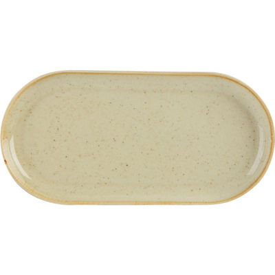 DPS Tableware Seasons Narrow Oval Plate 32cm Wheat Cream