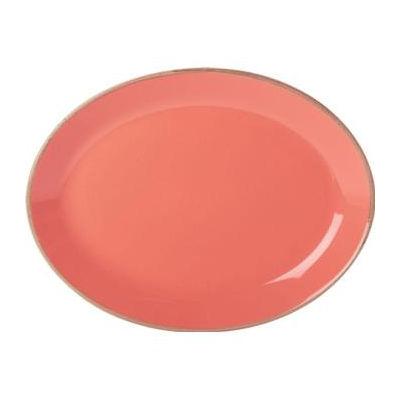 DPS Tableware Seasons Oval Plate 30cm Coral Orange