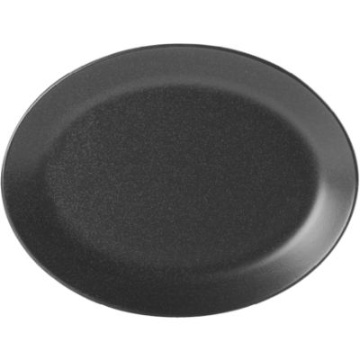 DPS Tableware Seasons Oval Plate 30cm Graphite Black