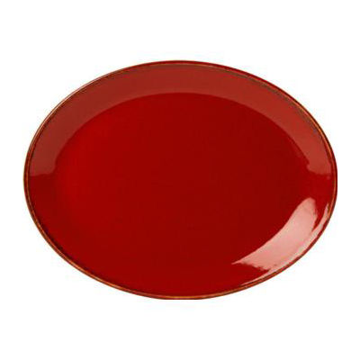 DPS Tableware Seasons Oval Plate 30cm Magma Red