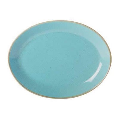 DPS Tableware Seasons Oval Plate 30cm Sea Spray Blue