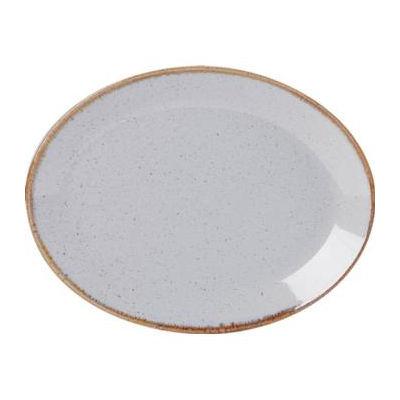 DPS Tableware Seasons Oval Plate 30cm Stone Grey