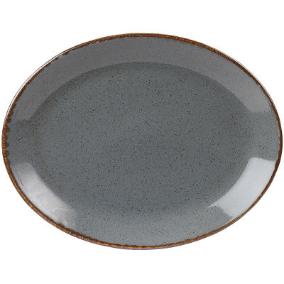 DPS Tableware Seasons Oval Plate 30cm Storm Grey