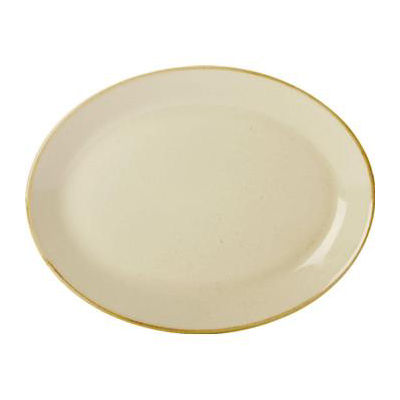 DPS Tableware Seasons Oval Plate 30cm Wheat Cream
