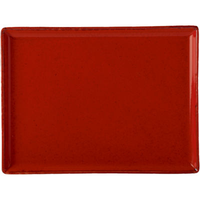 DPS Tableware Seasons Rectangular Platter 27cm Magma Red