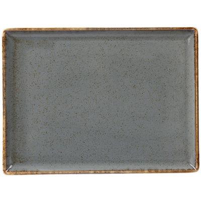 DPS Tableware Seasons Rectangular Platter 27cm Storm Grey