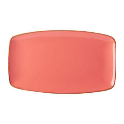 DPS Tableware Seasons Tapered Rectangular Platter 31cm Coral Orange