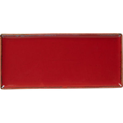 DPS Tableware Seasons Oblong Platter 35cm Magma Red
