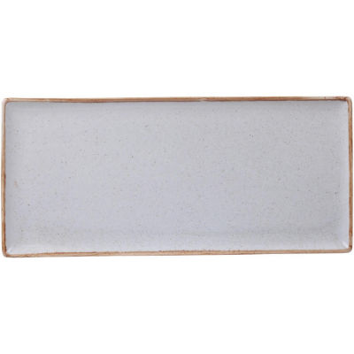 DPS Tableware Seasons Rectangular Platter 35cm Stone Grey