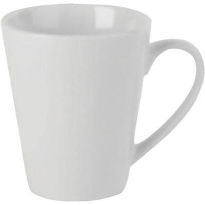 DPS Tableware Simply Vitrified Porcelain Retail Conical Mug 0.35L