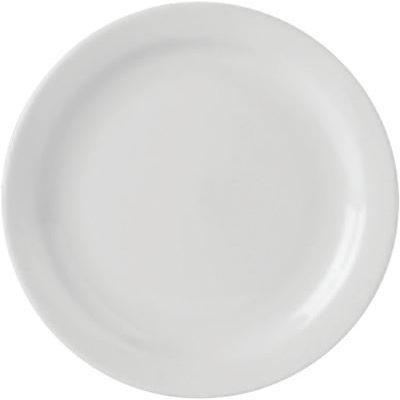 DPS Tableware Simply Vitrified Porcelain Retail Narrow Rim Plate 16.5cm