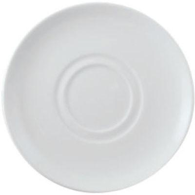DPS Tableware Simply Vitrified Porcelain Retail Stacking Mug Saucer 16cm