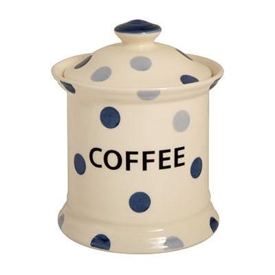 Fairmont and Main Blue Spot Storage Jar Coffee