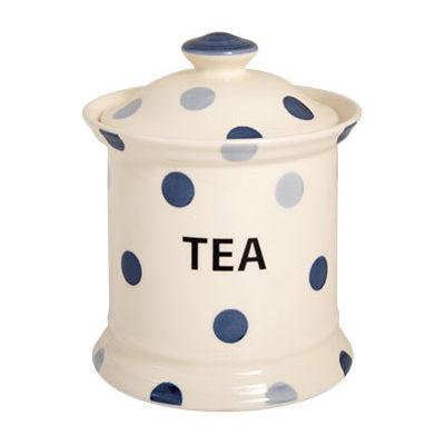 Fairmont and Main Blue Spot Storage Jar Tea