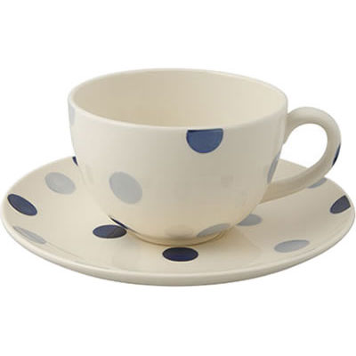 Fairmont and Main Blue Spot Teacup & Saucer