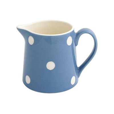 Fairmont and Main Kitchen Stripe & Spot Blue Cream Jug Spot Blue