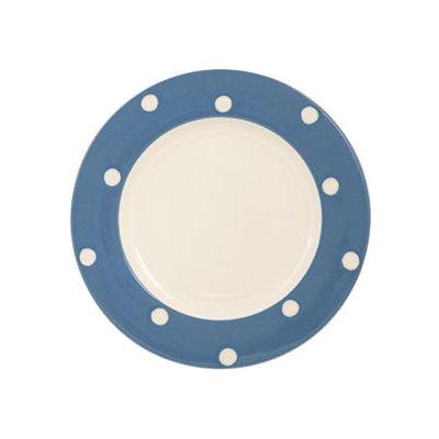 Fairmont and Main Kitchen Stripe & Spot Blue Dessert Plate Spot Blue