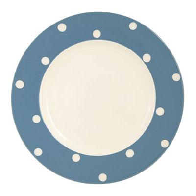 Fairmont and Main Kitchen Stripe & Spot Blue Dinner Plate Spot Blue