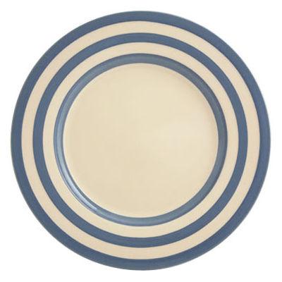 Fairmont and Main Kitchen Stripe & Spot Blue Dinner Plate Stripe Blue