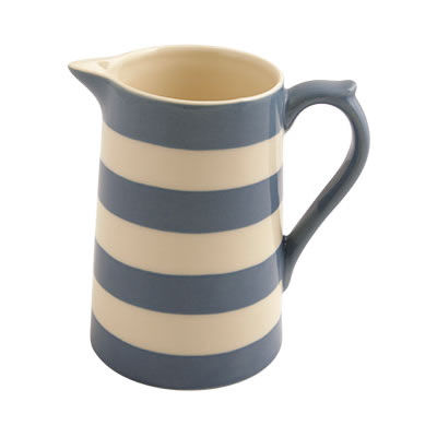 Fairmont and Main Kitchen Stripe & Spot Blue Milk Jug Medium Stripe Blue