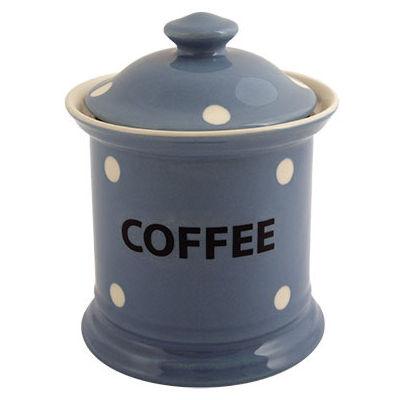 Fairmont and Main Kitchen Stripe & Spot Blue Storage Jar Coffee Spot Blue