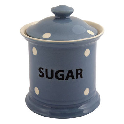 Fairmont and Main Kitchen Stripe & Spot Blue Storage Jar Sugar Spot Blue