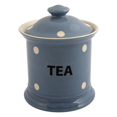 Fairmont and Main Kitchen Stripe & Spot Blue Storage Jar Tea Spot Blue