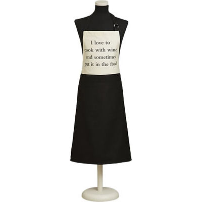 Fairmont and Main Quips & Quotes Apron I Love To Cook With Wine