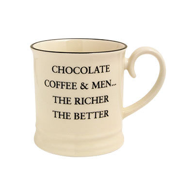 Fairmont and Main Quips & Quotes Mug Chocolate, Coffee & Men