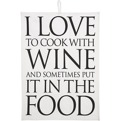 Wine Love Quotes Custom Fairmont And Main Quips & Quotes Tea Towel I Love To Cook With