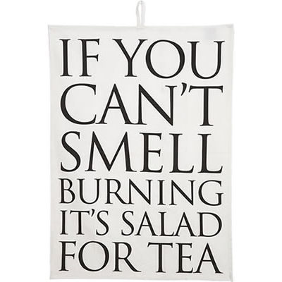 Fairmont and Main Quips & Quotes Tea Towel If You Can't Smell Burning