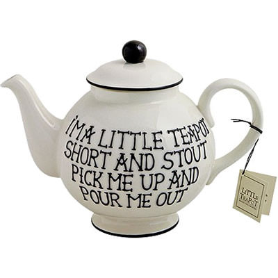 Fairmont and Main Quips & Quotes Teapot