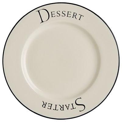 Fairmont and Main Script Dinner Set 12 Piece