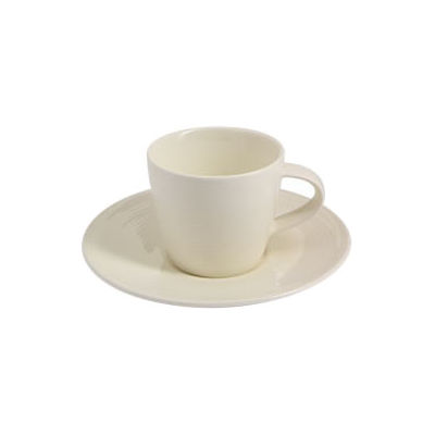 Fairmont and Main White Linen Espresso Cup and Saucer