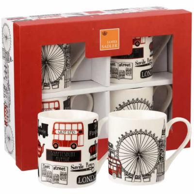 James Sadler Mug Small Set Of 4 London Life