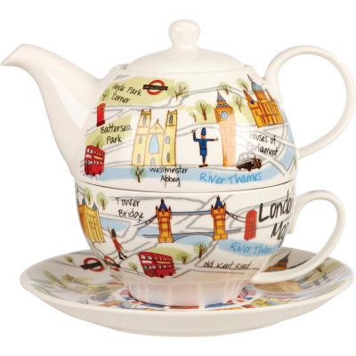 James Sadler Tea-for-One London Maps