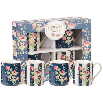 Julie Dodsworth Small Mug Set of 4 Flower Girl